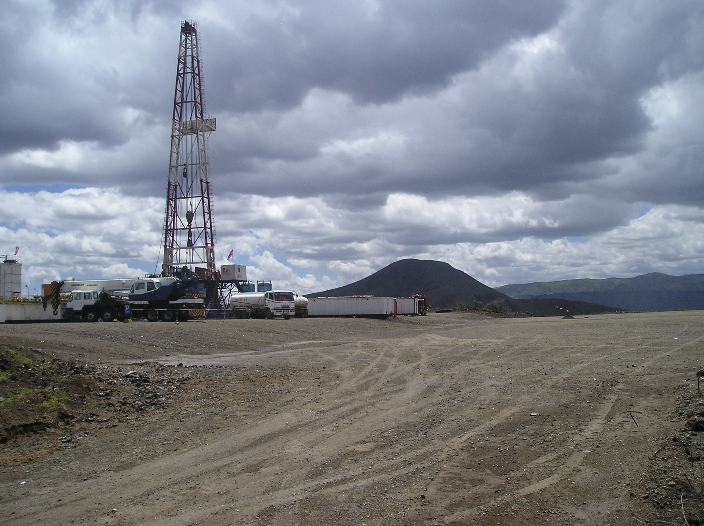Drilling at Olkaria