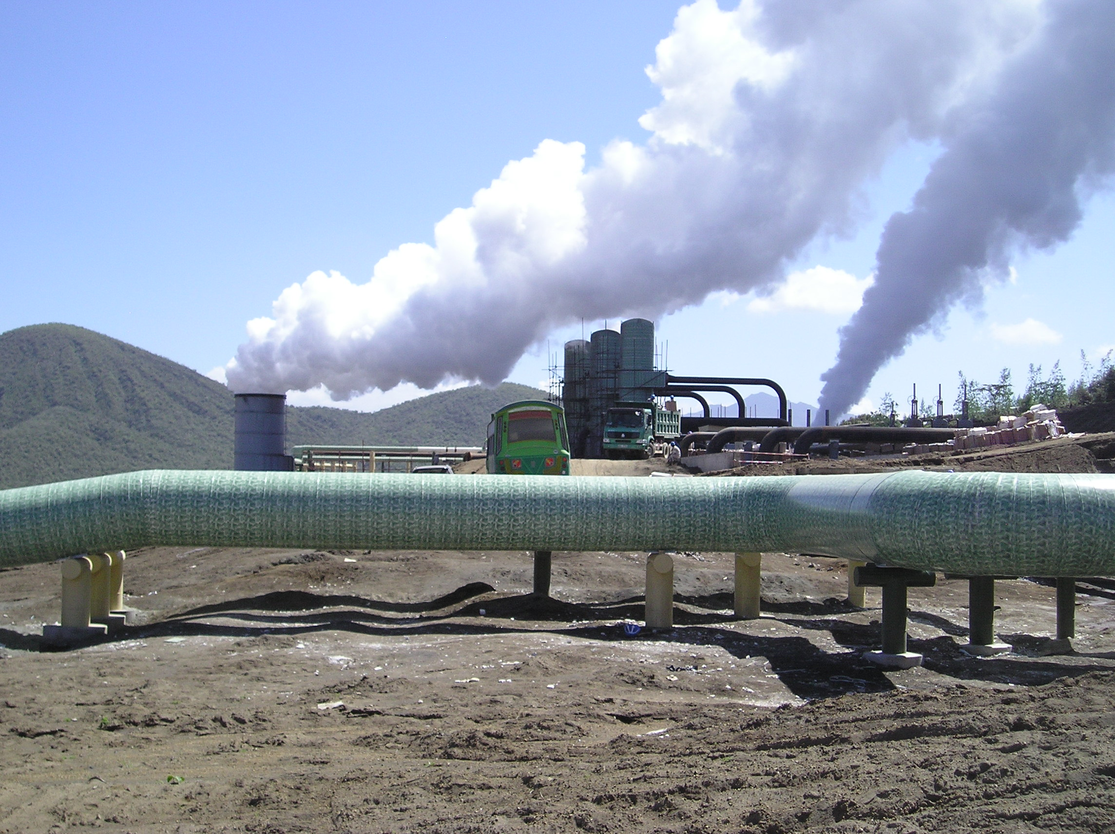 Olkaria IV steam separator station