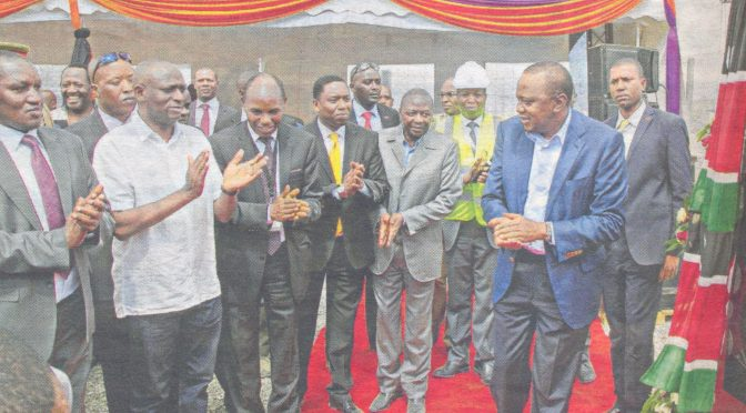 President Uhuru Kenyatta attends ground breaking ceremony for Olkaria V